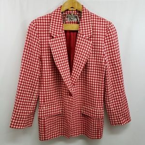 Vintage Pendleton Plus Size Houndstooth Blazer 16